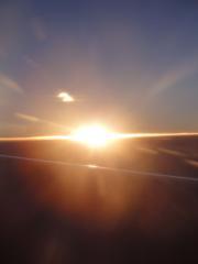 Lever de soleil sur le vol Rome-Doha 11/01/2011