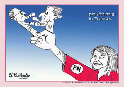 Elections en France - Caricature dans The Peninsula